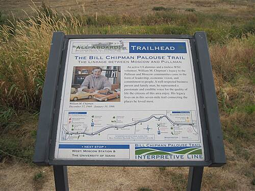 Bill Chipman Palouse Trail BILL CHIPMAN PALOUSE TRAIL The Bill Chipman sign