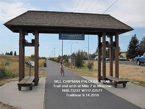 Bill Chipman Palouse Trail BILL CHIPMAN PALOUSE TRAIL No parking at this trailend.  Mall across highway.