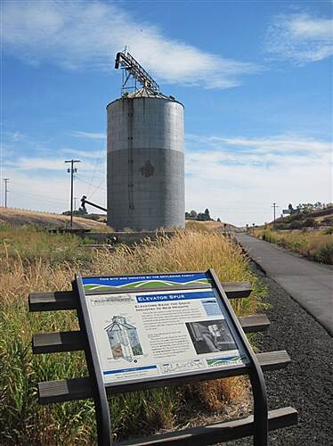 Bill Chipman Palouse Trail BILL CHIPMAN TRAIL Elevator and sign at Elevator Spur