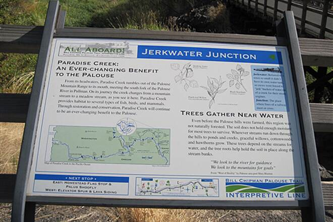 Bill Chipman Palouse Trail BILL CHIPMAN TRAIL Jerkwater Junction sign