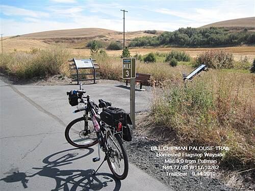 Bill Chipman Palouse Trail BILL CHIPMAN TRAIL Homestead Flagstop Wayside at MP 3