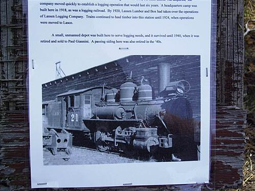 Bizz Johnson National Recreation Trail photo of old trains that ran here steam locomotive
