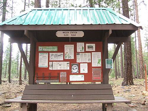 Bizz Johnson National Recreation Trail Mason Station Kiosk