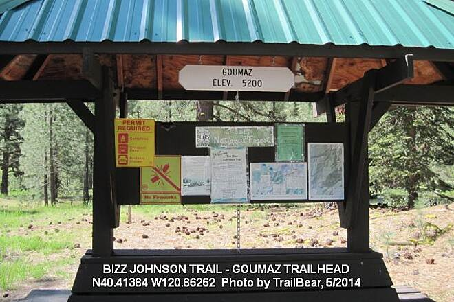 Bizz Johnson National Recreation Trail BIZZ JOHNSON TRAIL The information kiosk trailside at the Goumaz Trailhead