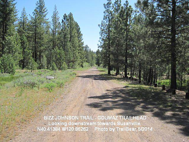 Bizz Johnson National Recreation Trail BIZZ JOHNSON TRAIL Looking eastward towards Susanville on the Bizz at the Goumaz Trailhead.
