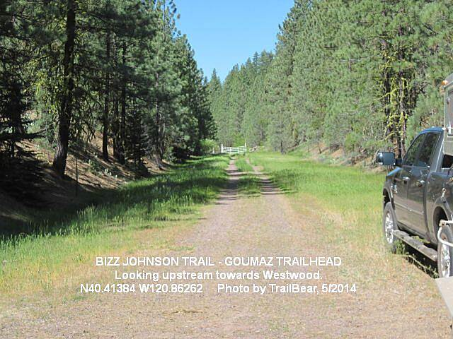 Bizz Johnson National Recreation Trail BIZZ JOHNSON TRAIL Looking west on the Bizz at the Goumaz Trailhead