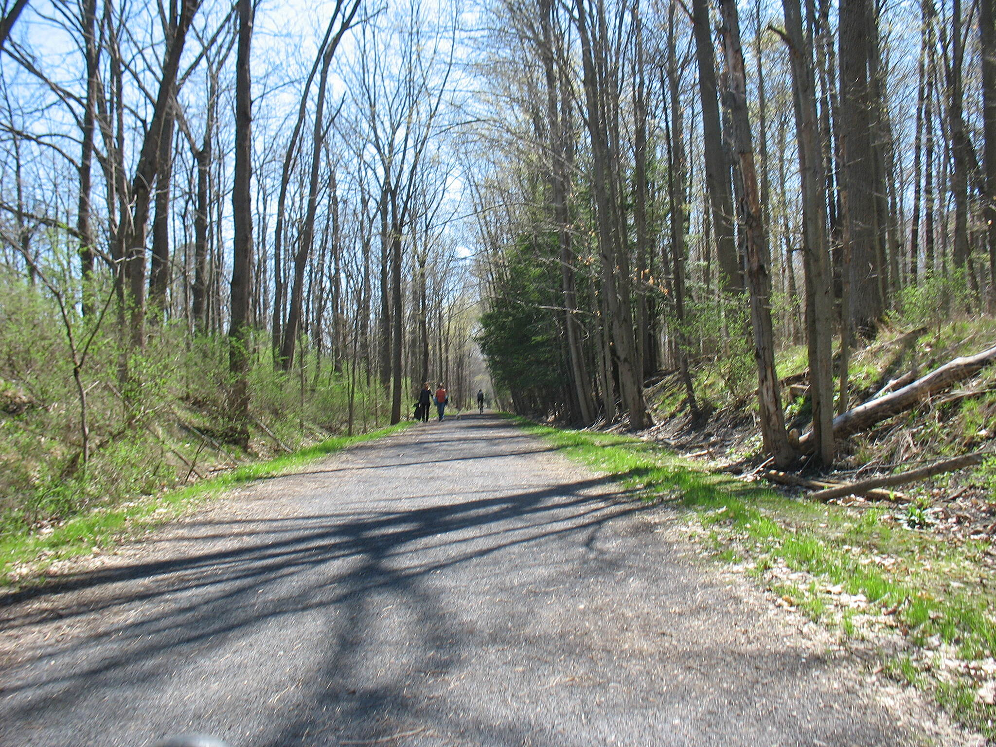 Black Diamond Trail On the trail  Bike surface 8.5 miles finished from Ithaca to Taughannok --