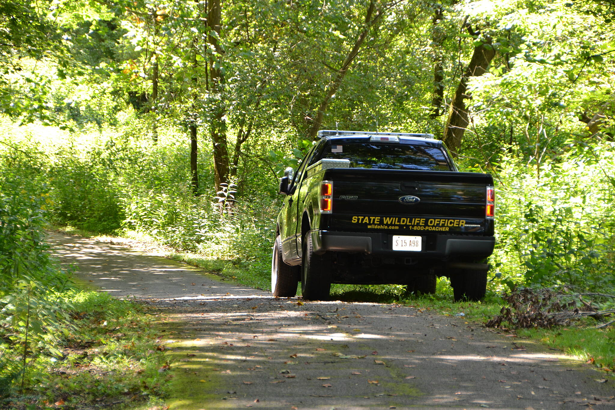 Blackhand Gorge Trail security there were wildlife officers around the trails