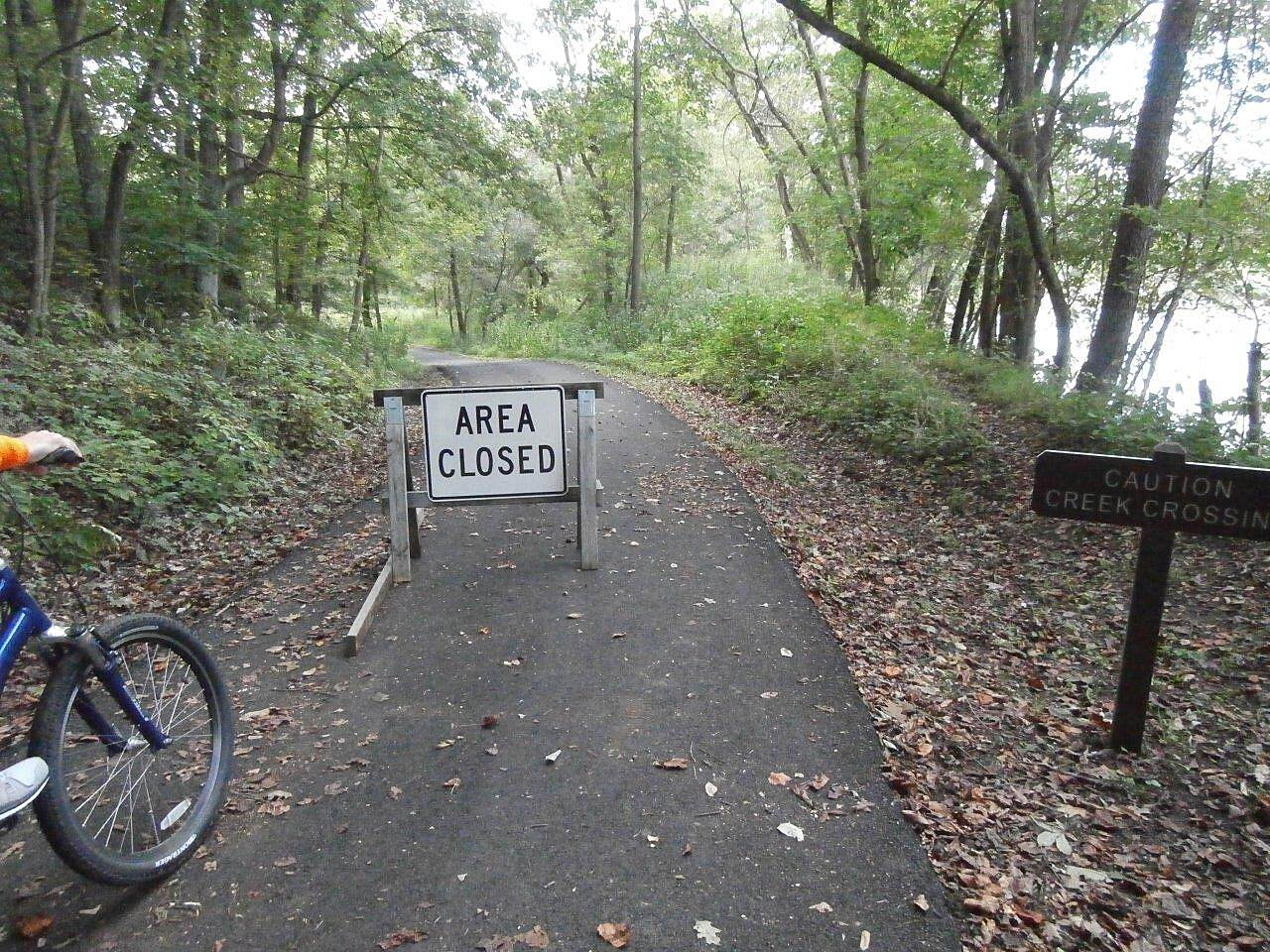 Blackhand Gorge Trail trail closed trail closed beyond this point-Sept. 2014