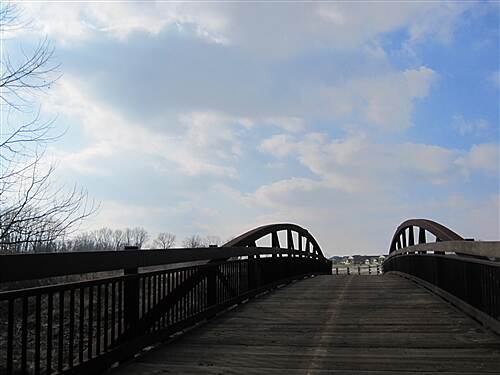 Blacklick Creek Greenway Trail Cool bridge, in the middle of no where, going some where!