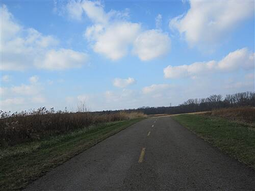 Blacklick Creek Greenway Trail  Beginging of a long stretch in a meandering field