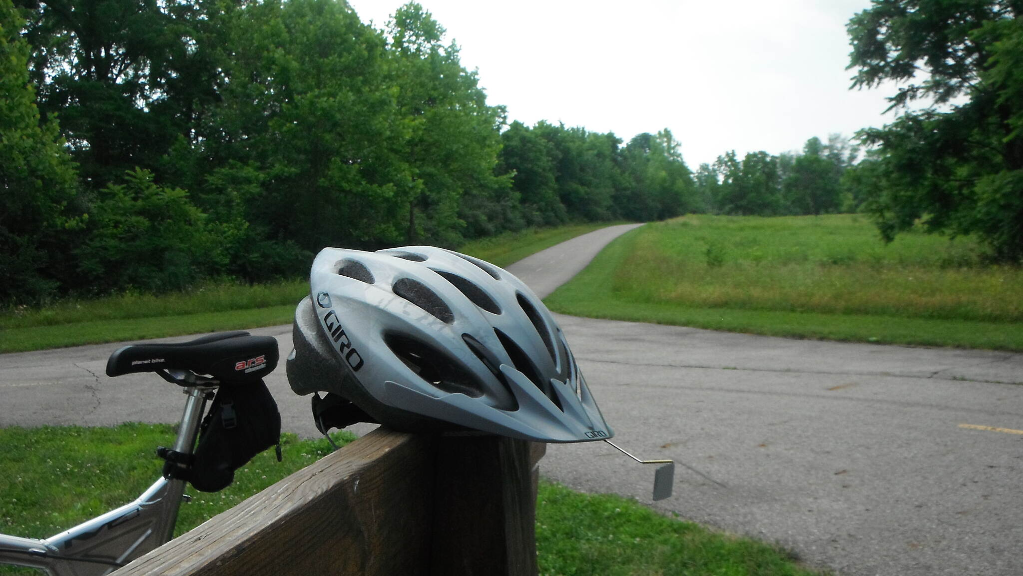 Blacklick Creek Greenway Trail A small round about