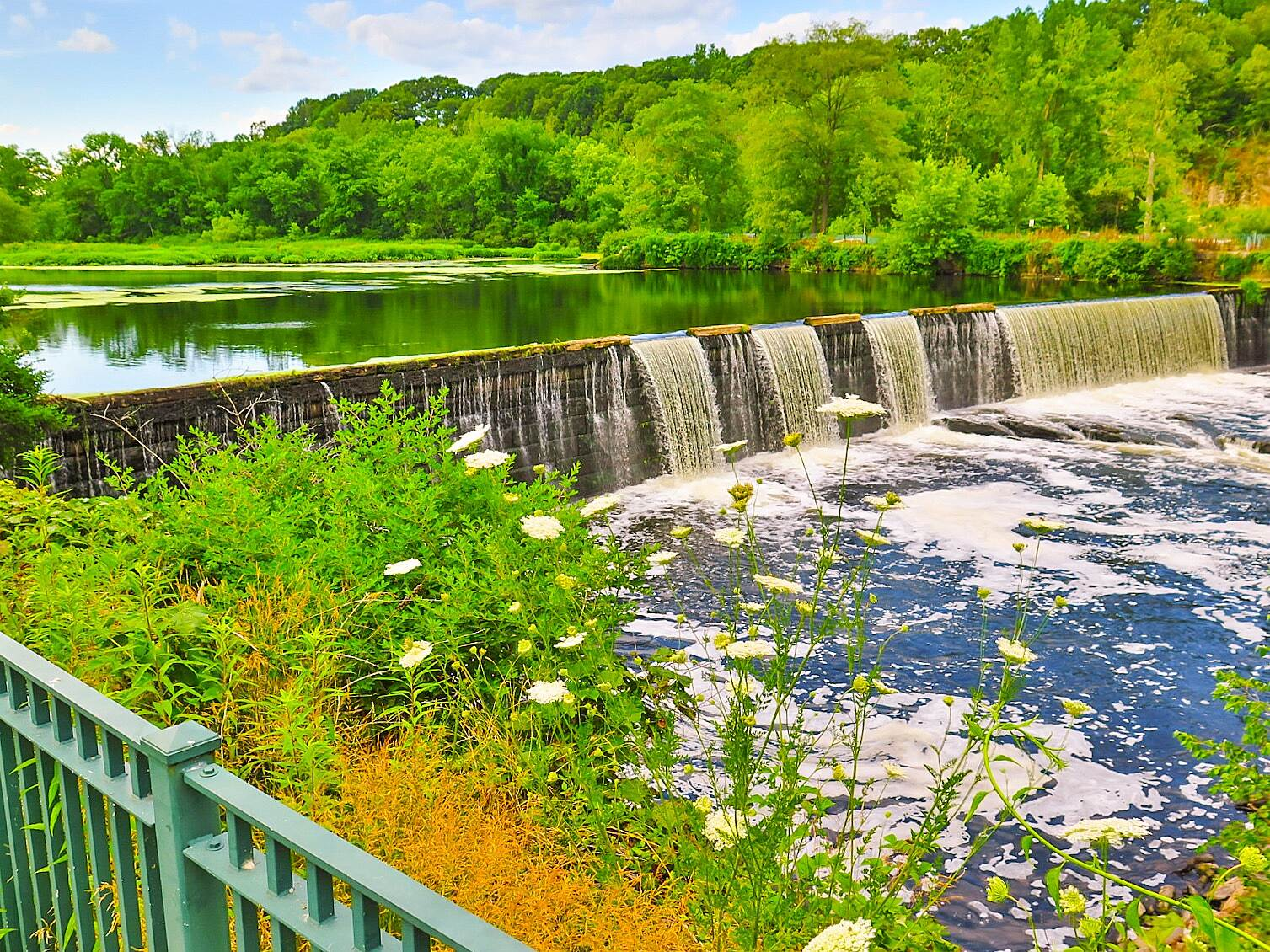 Blackstone River Greenway (RI) Waterfall Scenic View July 2, 2016, a Beautiful View on The Blackstone River Greenway !!