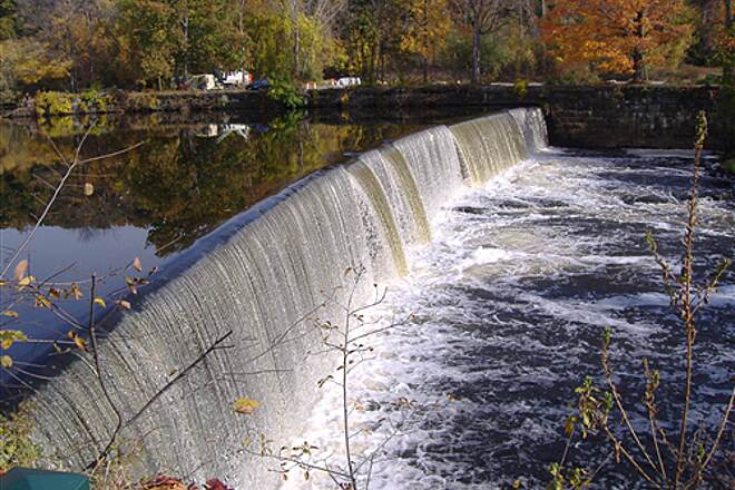 Blackstone River Greenway (RI) One of Many Manville Dam