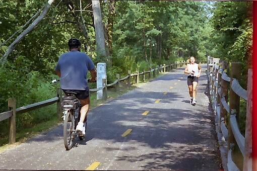 Blackstone River Greenway (RI) Multi-Use Trail This handicap accessible trail is good for bikers, joggers and skaters.
