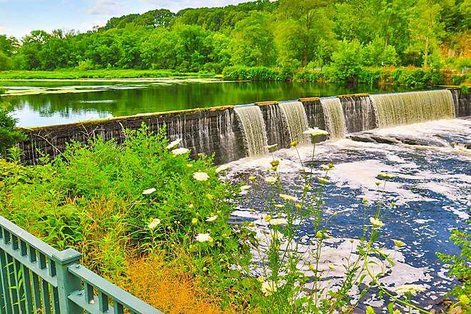 Blackstone River Greenway Waterfall Scenic View July 2, 2016, a Beautiful View on The Blackstone River Greenway !!