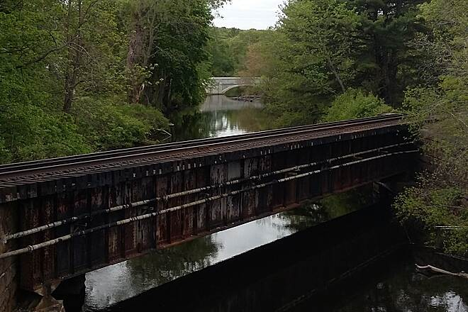 Blackstone River Greenway Blackstone Valley Greenway old railroad trestle