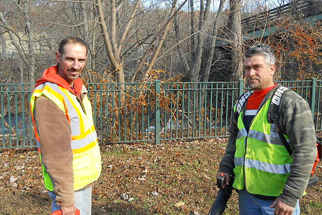 Blackstone River Greenway Fernando and Mario They keep the trail ship shape.