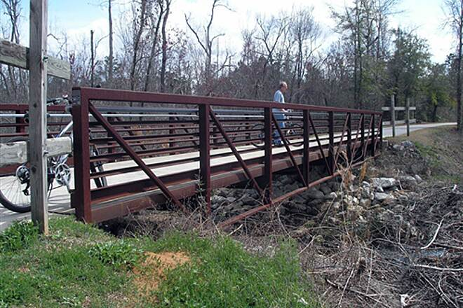 Blackwater Heritage State Trail   Stop on the bridge - early March 2009
