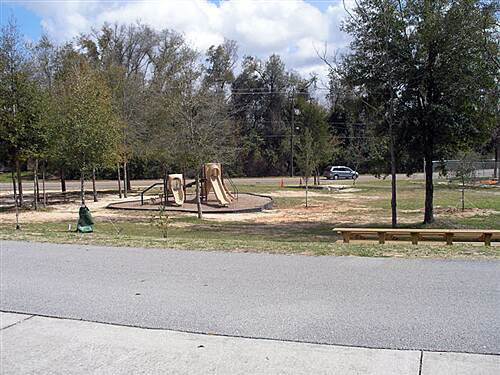 Blackwater Heritage State Trail   Playground on the trail by Santa Rosa County Library - early March 2009