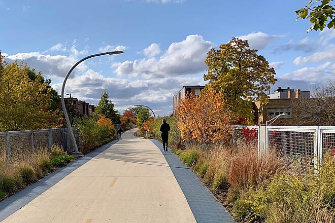 Bloomingdale Trail (The 606) The 606 in fall Colorful fall day on the trail.