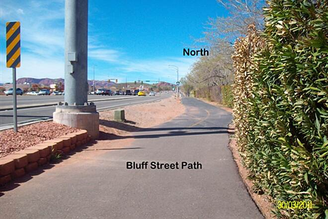 Bloomington Hills North Trail Bluff Street  Start from South end