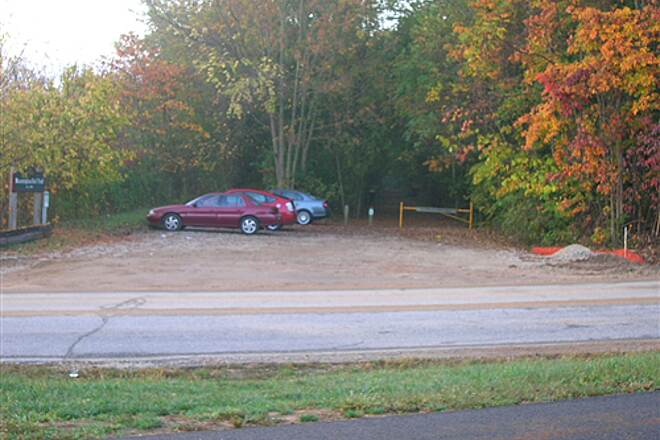 Bloomington Rail Trail Southern section -- trailhead and parking lot Southern section -- trailhead and parking lot