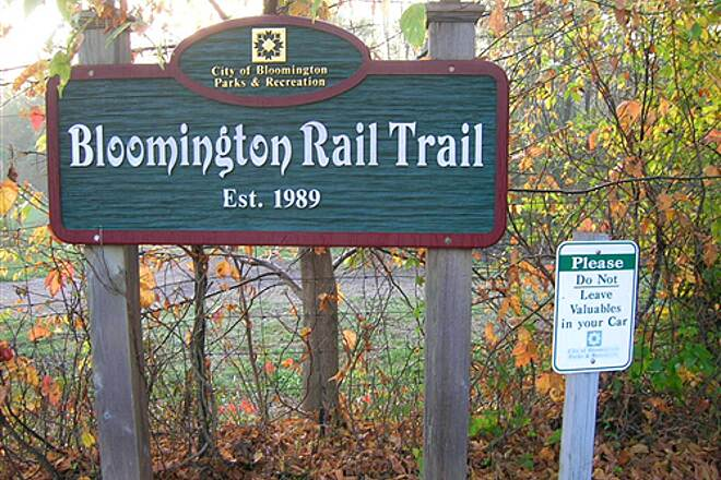 Bloomington Rail Trail Southern section -- Sign Southern section -- Sign