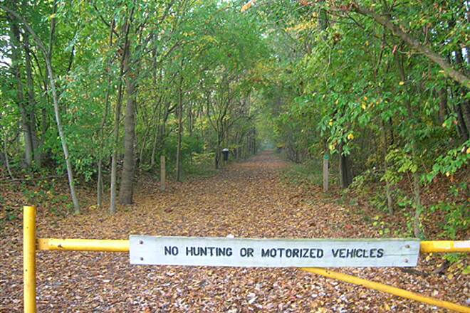 Bloomington Rail Trail Southern section -- Trail beginning Southern section -- Trail beginning