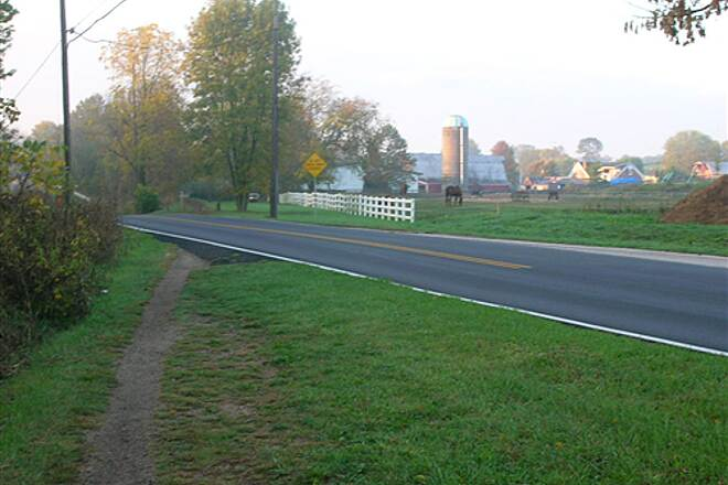 Bloomington Rail Trail Southern section -- Passing horse farm, headed south Southern section -- Passing horse farm, headed south