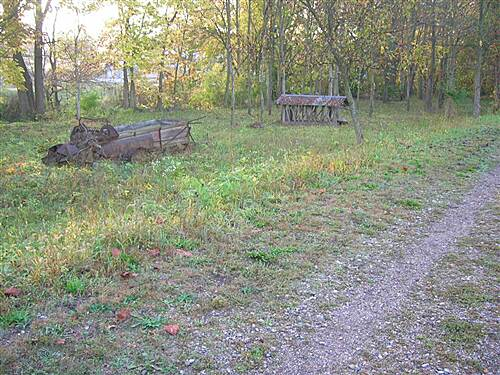 Bloomington Rail Trail Southern section -- Passing by relics from a different era Southern section -- Passing by relics from a different era