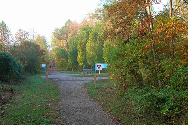 Bloomington Rail Trail Southern section -- The rotary, where a different bike trail starts Southern section -- The rotary, where a different bike trail starts