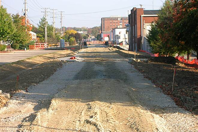 Bloomington Rail Trail Downtown section -- under construction.  Looking north towards downtown. Downtown section -- under construction.  Looking north towards downtown.