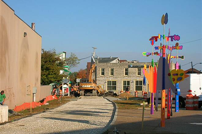 Bloomington Rail Trail Downtown section -- under construction in 2008.  The new sculpture along the trail. Downtown section -- under construction in 2008.  The new sculpture along the trail.