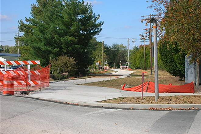 Bloomington Rail Trail Downtown section -- under construction in 2008.  View towards the end of construction. Downtown section -- under construction in 2008.  View towards the end of construction.