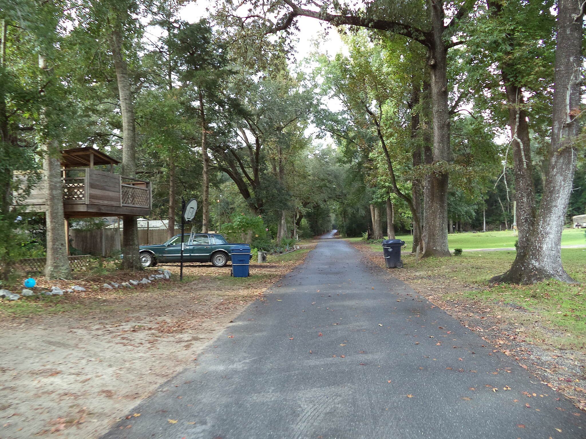 Blountstown Greenway Bike Path Near the river A small section of the bike path is shared as a driveway for several homes.