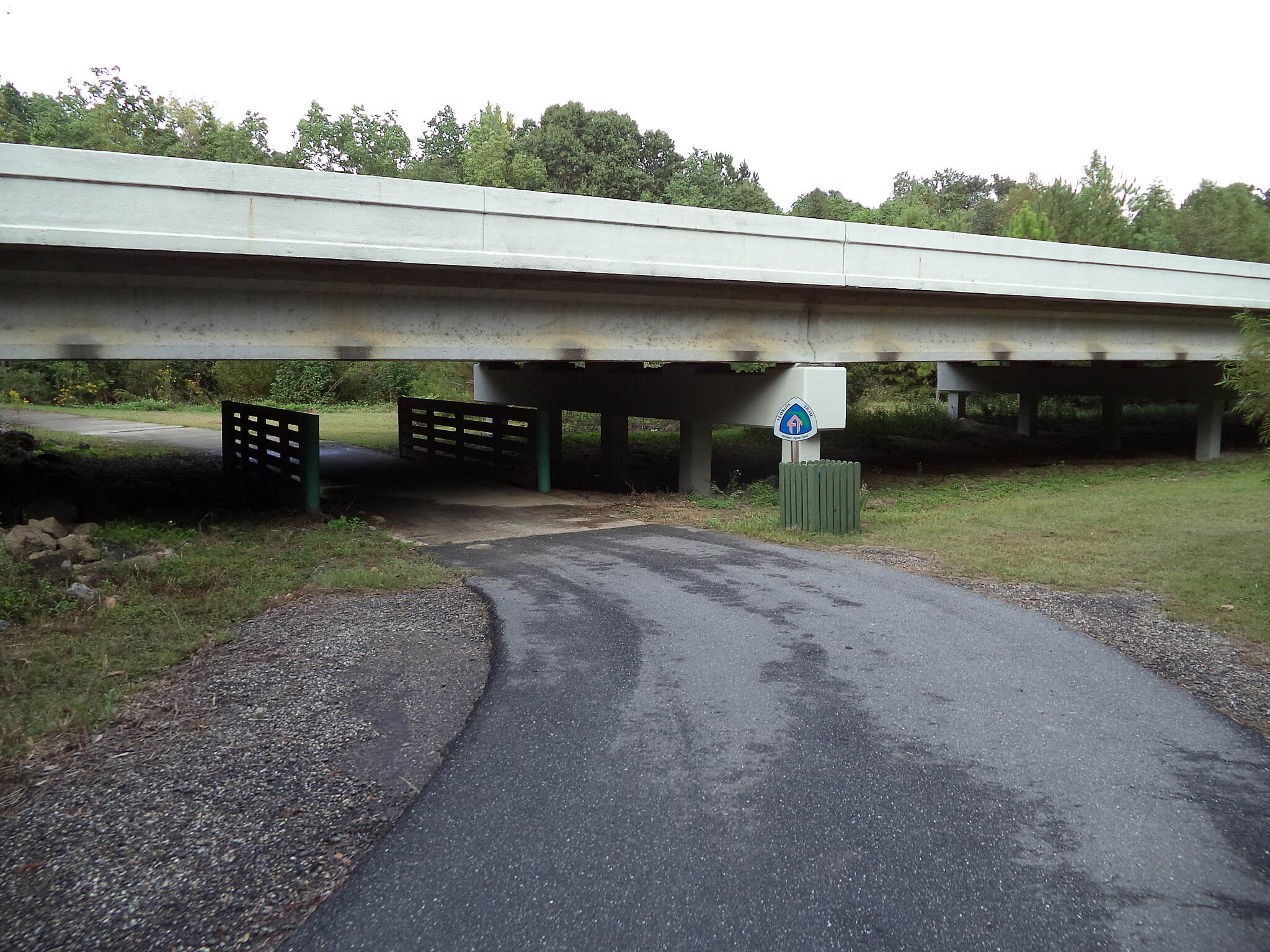 Blountstown Greenway Bike Path At SR 20 The path goes under SR 20.