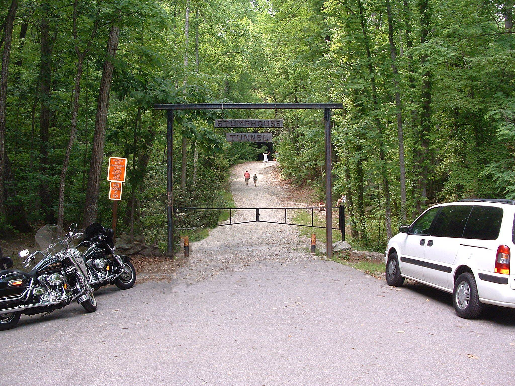 Blue Ridge Railroad Historical Trail STUMPHOUSE TUNNEL  Entrance to the tunnel