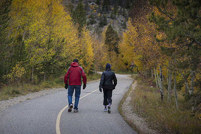 Blue River Recpath Blue River Rec Path Strolling along the scenic Blue River Rec Path between Frisco and Breckenridge in Colorado.
