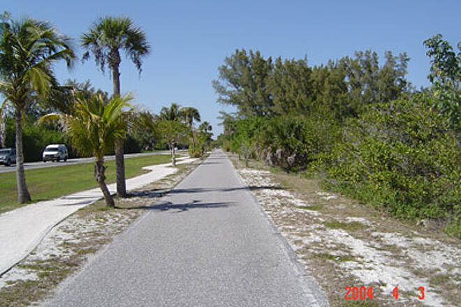 Boca Grande Bike Path Typical View Here's the typical scenery along the majority of the path, IF you stay on the path, that is. The path becomes more interesting as you stray away.