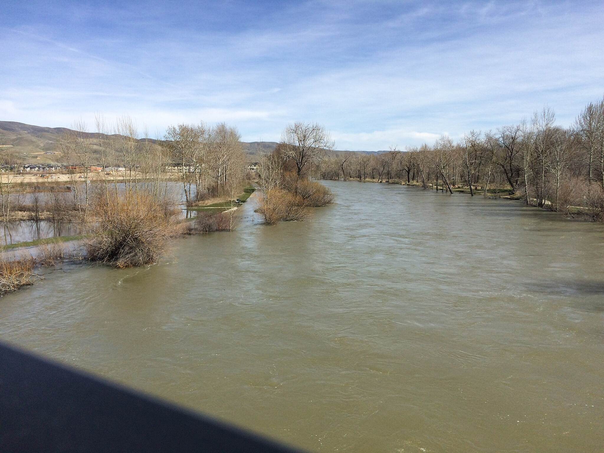 Boise River Greenbelt Boise Greenbelt closed for over half its length Boise Greenbelt from Parkcenter Blvd bridge.  Federal water managers warn over 70% of the 40 mile long trail could remain flooded through June due to record snow pack in the Boise River drainages.