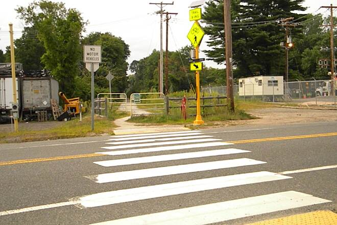 Border to Boston Trail US Route 1 crossing US Route 1 Crossing, near Topsfield Fairgrounds