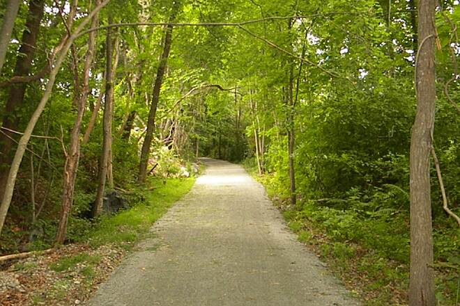 Border to Boston Trail Wenham  Woded section in Wenham just before this trail connects to the Danvers Rail Trail