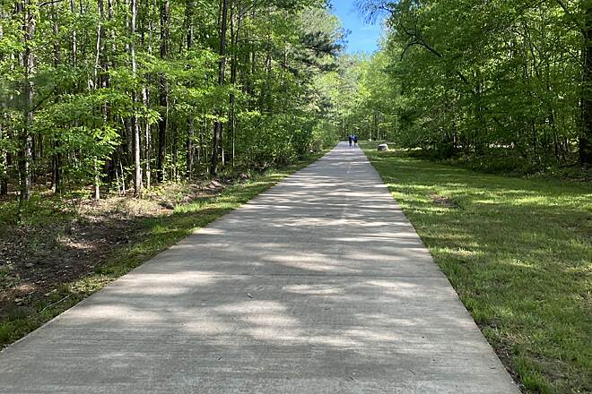 Bradford Creek Greenway Typical stretch Wonderful for families