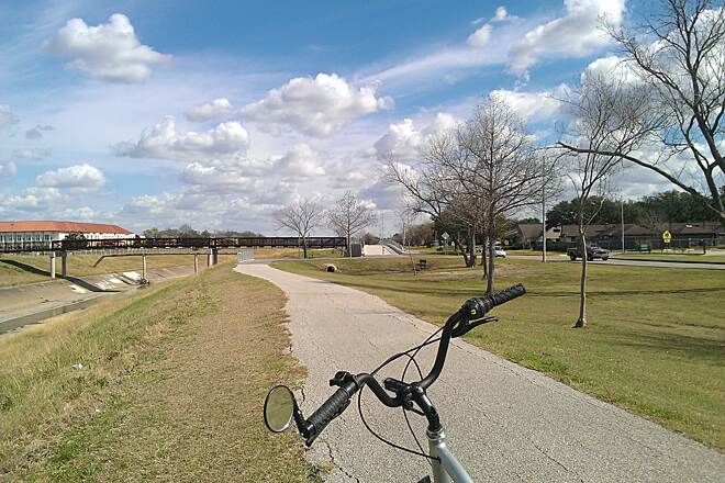 Brays Bayou Greenway Trail Townie on Brays Bayou Trail