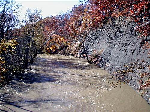 Bridgeway Trail Fall day on Bridgeway Trail Earlier runoff floods the Black River