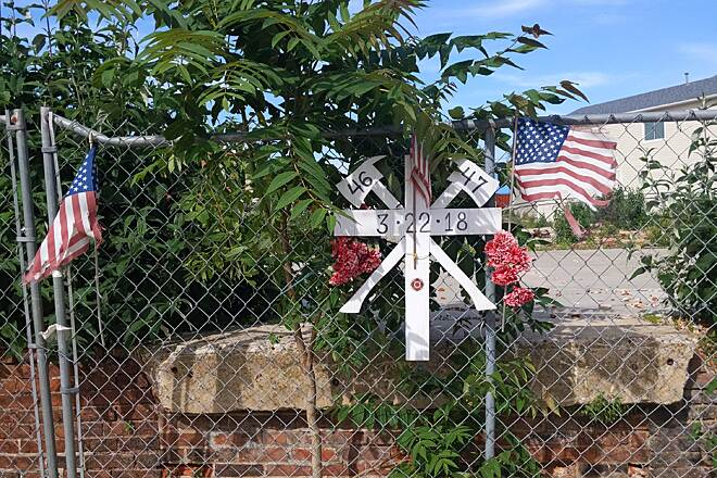 Broad Street Greenway Broad Street Greenway This small memorial along the greenway commemorates the lives of two firefighters who died in a building collapse in 2018 on the corner of Broad and Walnut streets