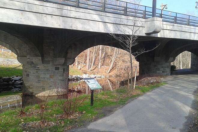 Bronx River Greenway Scarsdale Scarsdale at Crane Road bridge
