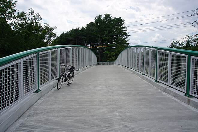 Bruce Freeman Rail Trail Bridge over Route 2A in Acton All highway crossings should be like this.