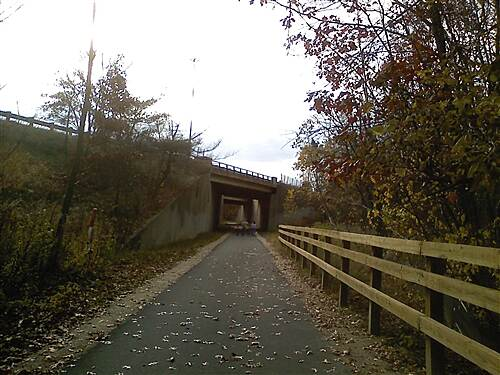 Bruce Freeman Rail Trail   Approaching Rt 3 Bridge/Underpass